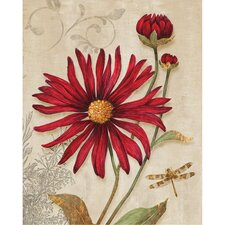 Revealed Artwork Crimson Blooms Graphic Art on Wrapped Canvas