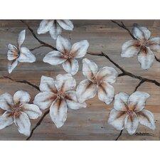 Revealed Artwork Wooden Blossom I Original Painting on Canvas