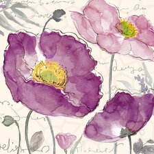 Revealed Artwork Poppies I Painting Print on Wrapped Canvas