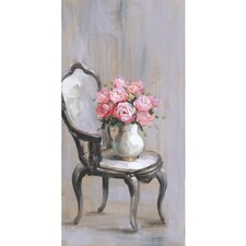 """Chair Of Roses I"" Wrapped Canvas Painting Print"