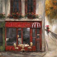Revealed Artwork Cafe Des Amis Original Painting on Canvas