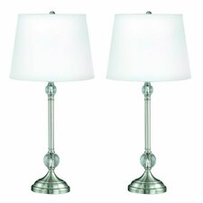 "12.75"" H Table Lamp with Empire Shape (Set of 2)"