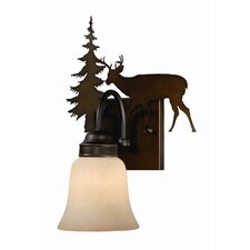 Bryce 1 Light Wall Sconce with Glass Shade