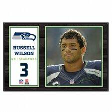Wood Sign Wilson/Seahawks Graphic Art Plaque