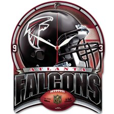 NFL Atlanta Falcons Plaque Wall Clock