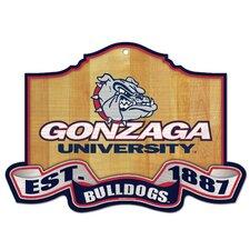 NCAA University of Gonzaga Graphic Art Plaque