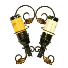 Fuzio 2 Bottle Wall Mounted Wine Rack