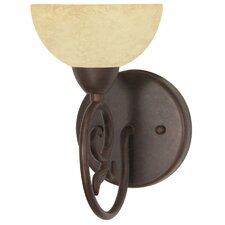Tapas  1 Light Wall Sconce with Glass Shade