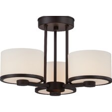 Celine 3 Light Semi Flush Mount