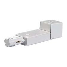 Track Light Conduit Live End in White