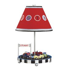 "Retro Racers 18"" H Table Lamp with Empire Shade"