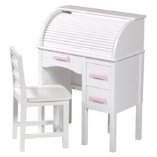 "2 Piece Jr. Roll Top 27"" Writing Desk Set"