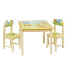 Savanna Smiles 3 Piece Rectangular Table & Chair Set