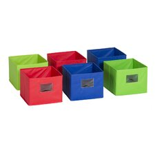 Multicolored Fabric Bin (Set of 6)