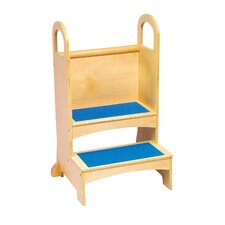 Household Helpers 2-Step Birch Plywood High Rise Step Stool with 200 lb. Load Capacity