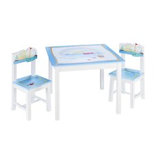 Sailing Kids 3 Piece Table and Chairs Set
