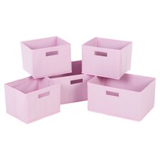 5 Piece Classic Pink Basket Set