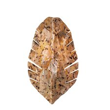 Banana Leaf Two Light Wall Sconce with Chocolate Tiger Shell