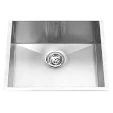 """23"""" x 18"""" Undermount Single Bowl Kitchen Sink"""