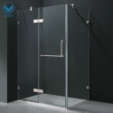 "24"" Pivot Door Swing Frameless Shower Enclosure"