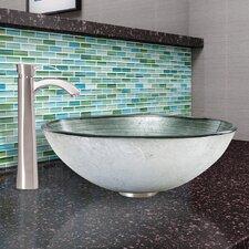 Glass Vessel Bathroom Sink and Otis Faucet Set