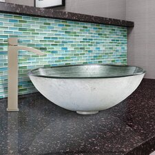 Simply Glass Vessel Bathroom Sink and Duris Faucet Set