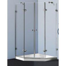 Sliding Door Shower Enclosure with Low-Profile Base