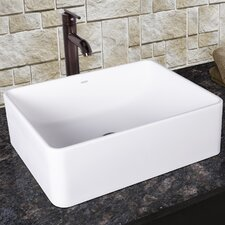 Caladesi Composite Vessel Sink with Seville Bathroom Vessel Faucet