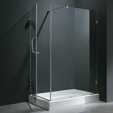 "48.125-in. W x 36.125-in. L x 79.25"" H Pivot Door Frameless Shower Enclosure"
