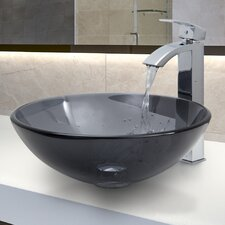 Glass Vessel Sink with Faucet