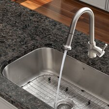 1 Handle Single Hole Pull Out Spray Kitchen Faucet