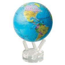 """4.5"""" Blue Oceans with Political Map Globe"""