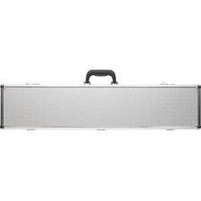2/4 Box Pool Cue Case in Silver