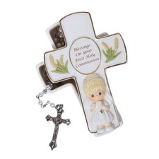 Blessings On Your First Holy Communion Covered Box with Rosary