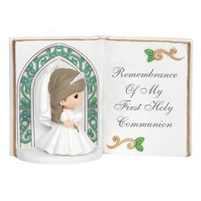 Remembrance of My First Holy Communion Bible Figurine