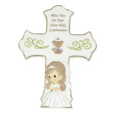 Bless You On Your First Holy Communion Girl Cross
