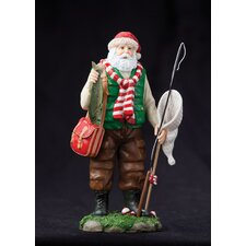 """Lake Fisherman"" Fisherman Santa Figurine"