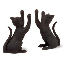 Curious Cat Book End (Set of 2)