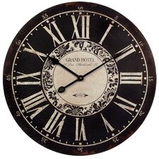 "Oversized 23.25"" Grand Hotel Wall Clock"