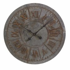 "Gilbert Oversized 32"" Galvanized Wall Clock"