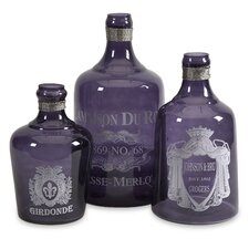 3 Piece Karlin Decorative Bottle Set