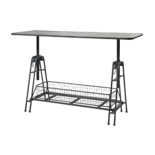 Henry Adjustable Metal Work Console Table