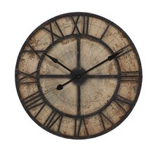"Oversized 31.5"" Bryan Map Wall Clock"