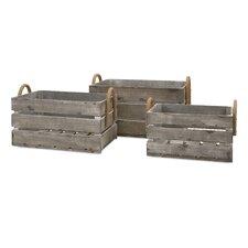 3 Piece Cassie Wood Crate Set