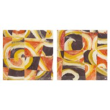 Fire and Slate 2 Piece Painting Print Set