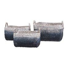 Cascade 3 Piece Woven Water Hyacinth Basket Set