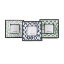 Montsie Geometric Ceramic Picture Frame (Set of 3)