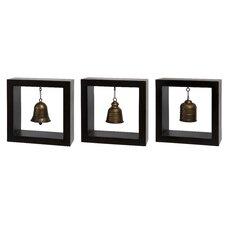 3 Piece Framed Bell Wall Décor Set