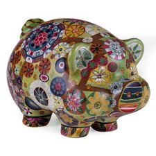 Folk Art Piggy Bank