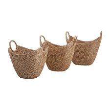 Caitlan Natural Weave Basket (Set of 3)